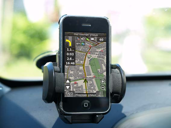 Смартфон с GPS - iPhone c Навителом